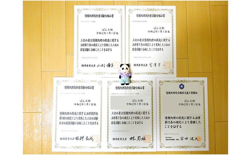ITパスポートを過去問道場だけで合格した合格証書